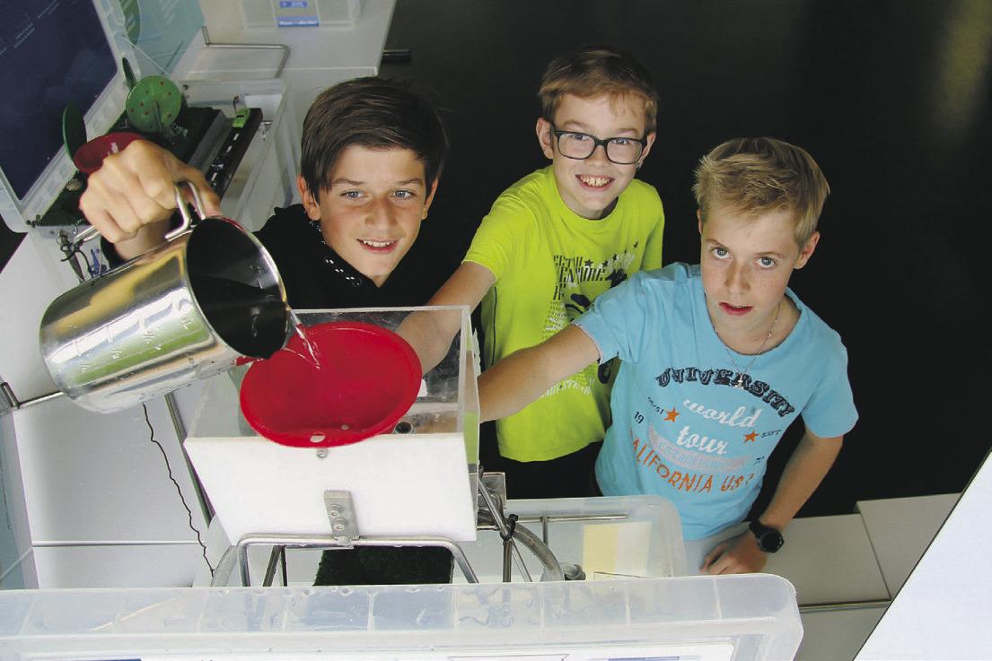 Wasser den Schülern erlebbar gemacht
