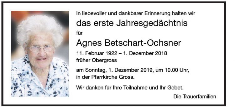 Agnes Betschart-Ochsner 1.JG