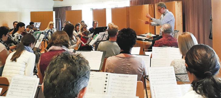 Intensive Proben der  Feldmusik Bennau