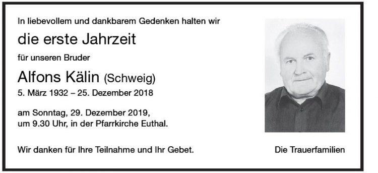 Alfons Kälin (Schweig) 1.JG