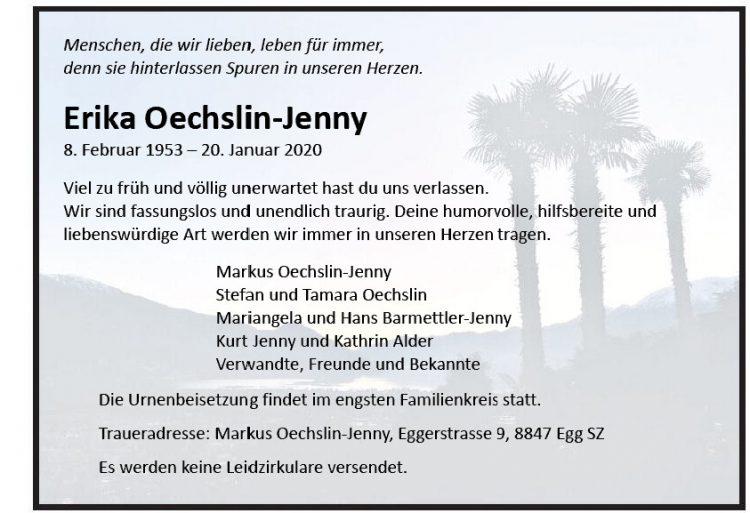 Erika Oechslin-Jenny