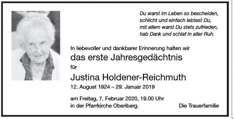Justina Holdener-Reichmuth 1.JG