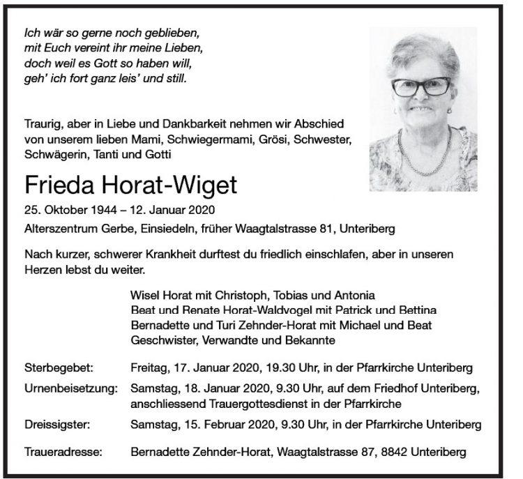 Frieda Horat-Wiget