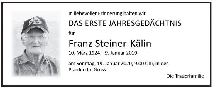 Franz Steiner-Kälin