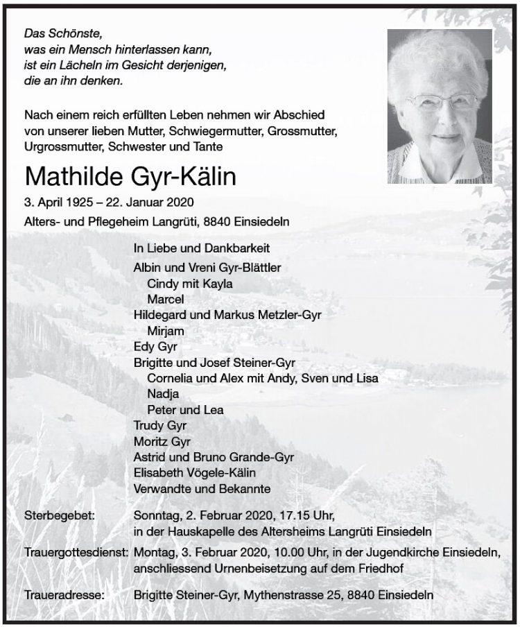 Mathilde Gyr-Kälin