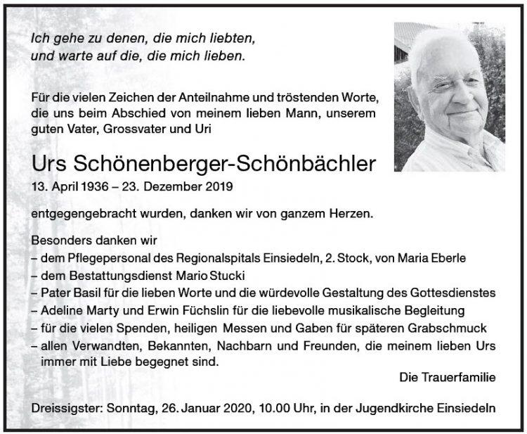 Urs Schönenberger-Schönbächler