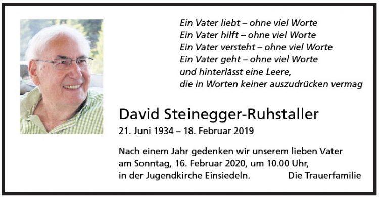 David Steinegger-Ruhstaller