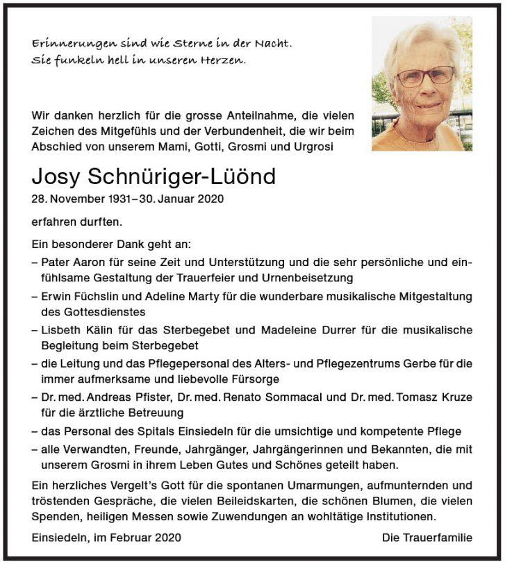 Josy Schnüriger-Lüönd