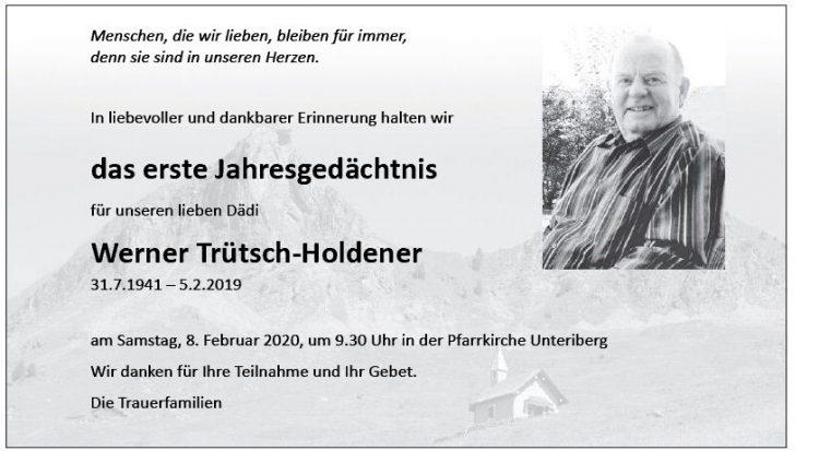 Werner Trütsch-Holdener  1JG