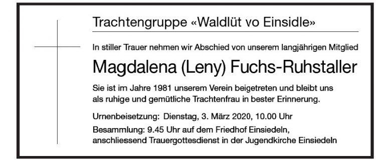 Magdalena (Leny) Fuchs-Ruhstaller