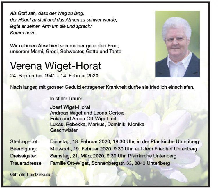 Verena Wiget-Horat