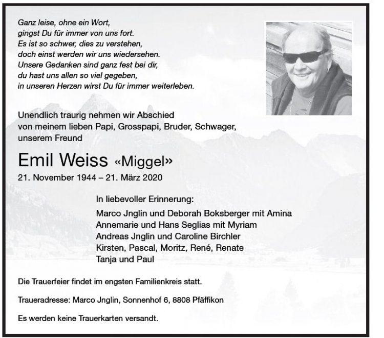 Emil Weiss «Miggel»