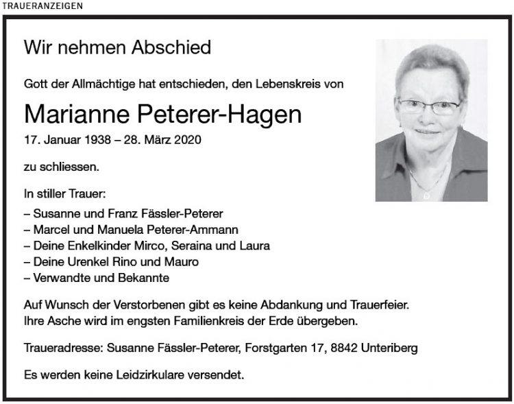 Marianne Peterer-Hagen