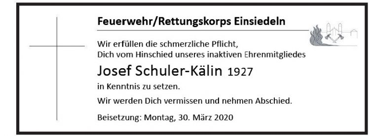 Josef Schuler-Kälin 1927