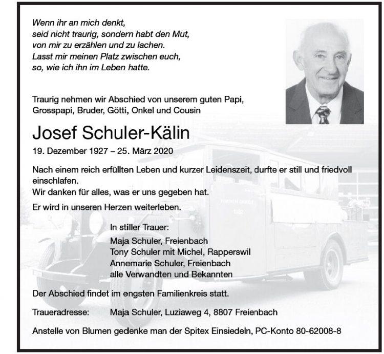 Josef Schuler-Kälin
