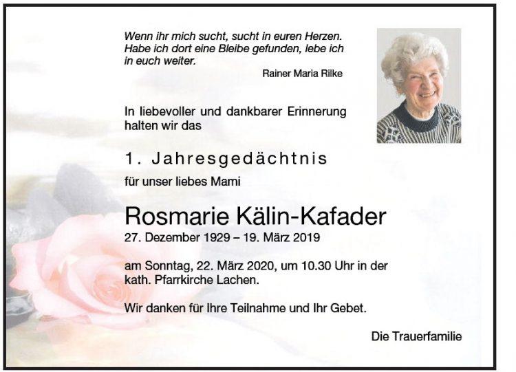 Rosmarie Kälin-Kafader