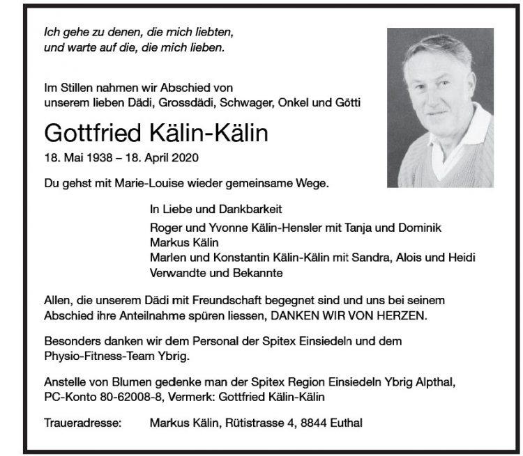Gottfried Kälin-Kälin