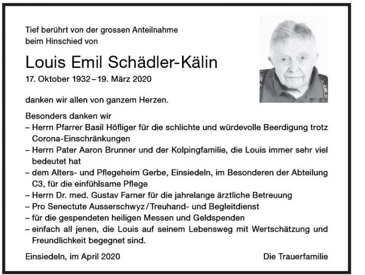 Louis Emil Schädler-Kälin