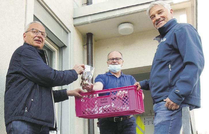 850 Osterhasen für das  Gesundheitspersonal