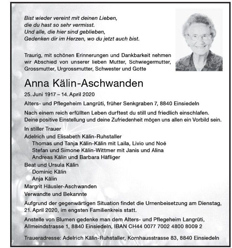 Anna Kälin-Aschwanden