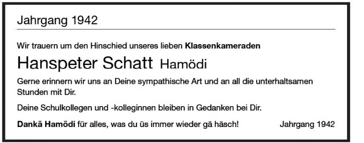 Hanspeter Schatt Hamödi