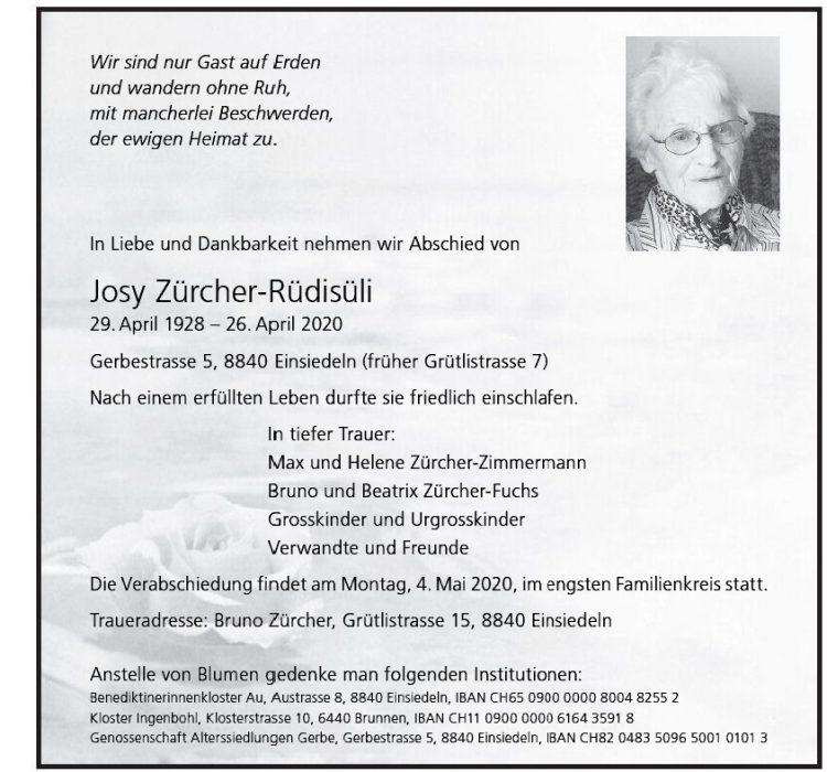 Josy Zürcher-Rüdisüli