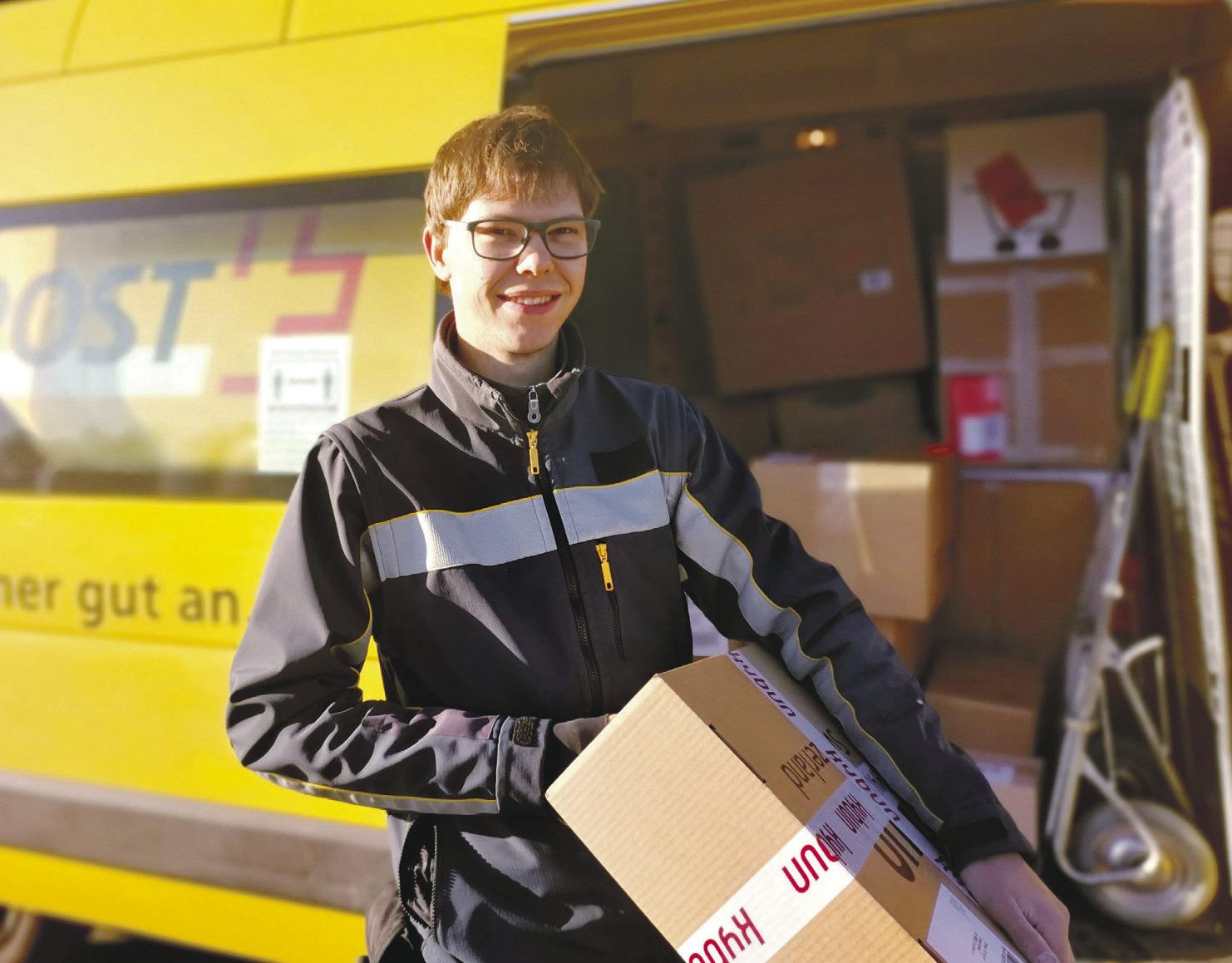 «Mein Rekord waren etwa 350 Pakete an einem Tag»