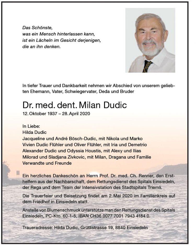 Dr. med. dent. Milan Dudic