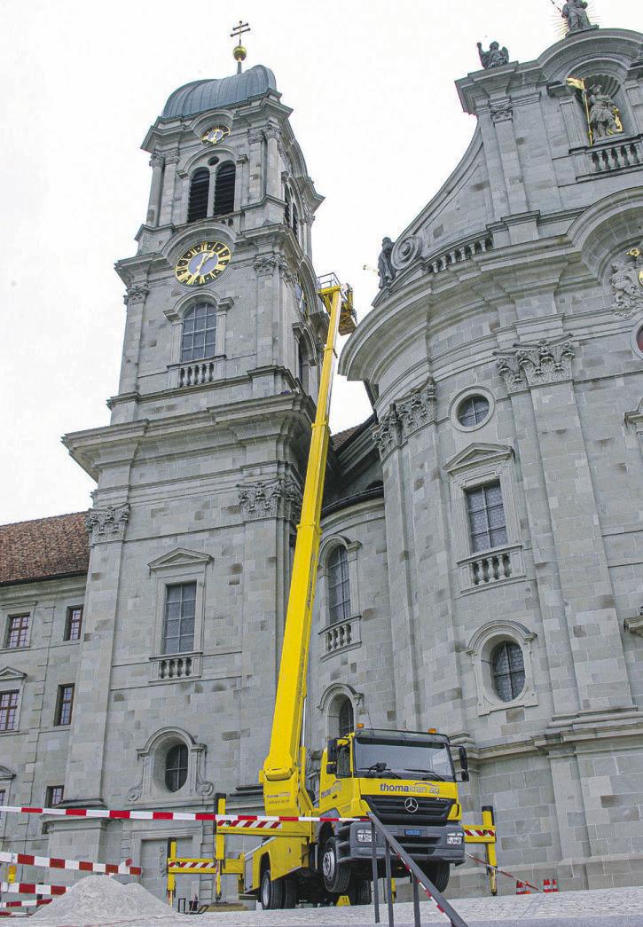 Wie die Klosterfassade bald in neuem Licht erstrahlt