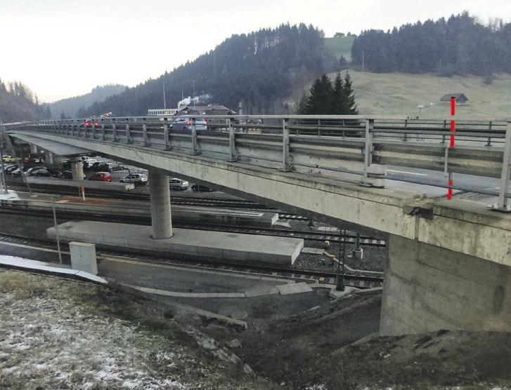Zweispuriger Verkehr trotz Brückensanierung