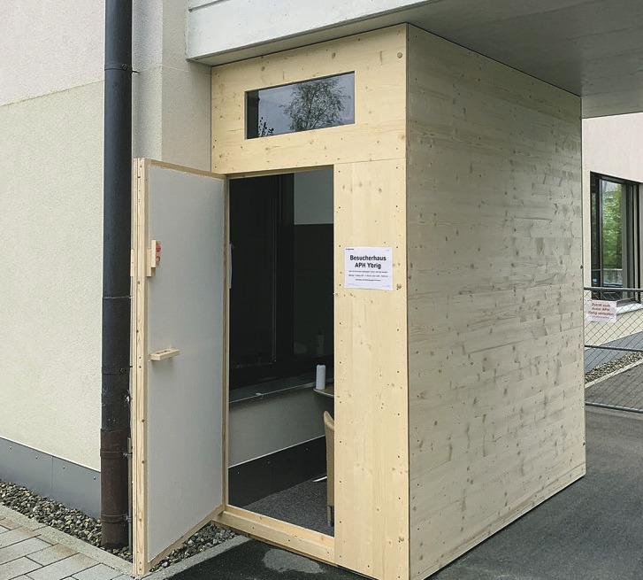 Auch das Alters- und Pflegeheim Ybrig  hat ein «Bsuechs-Hüsli»