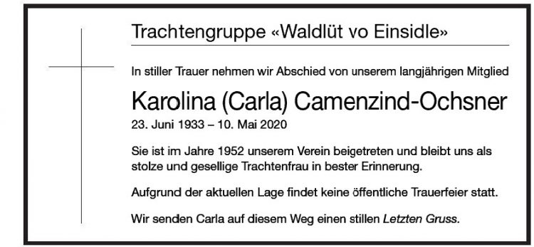 Karolina (Carla) Camenzind-Ochsner