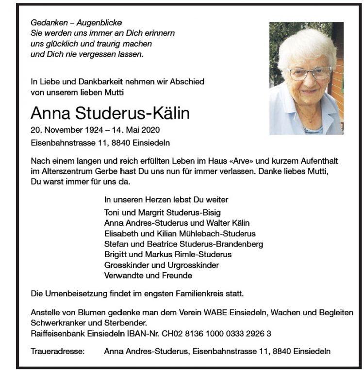 Anna Studerus-Kälin