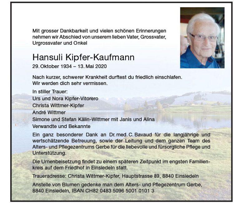 Hansuli Kipfer-Kaufmann