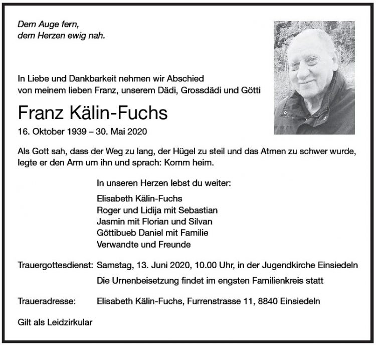 Franz Kälin-Fuchs