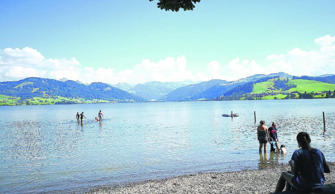 Badewasserqualität in den  Seen ist ausgezeichnet