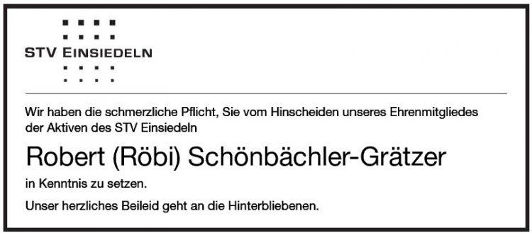 Robert (Röbi) Schönbächler-Grätzer