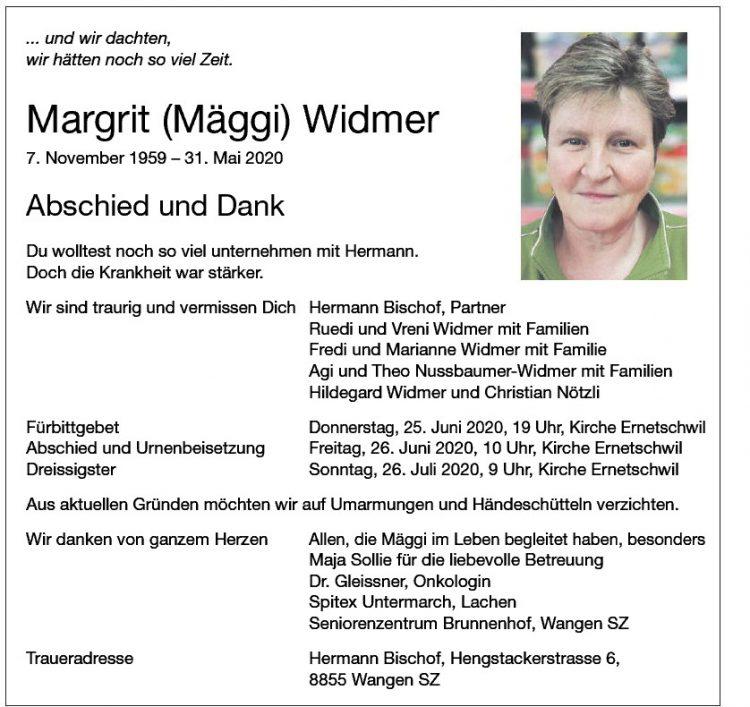 Margrit (Mäggi) Widmer