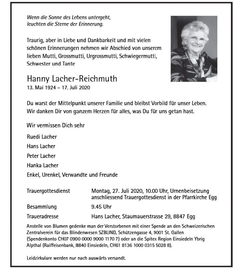 Hanny Lacher-Reichmuth