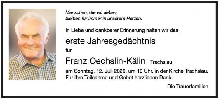 Franz Oechslin-Kälin 1.JG