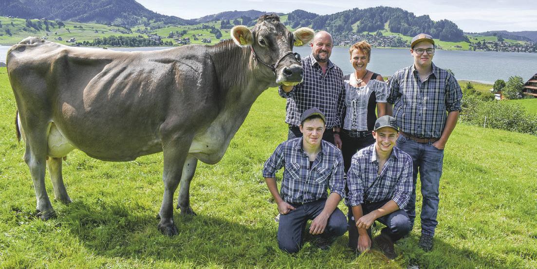 Freude und Stolz auf dem  Bauernhof Erlen in Willerzell