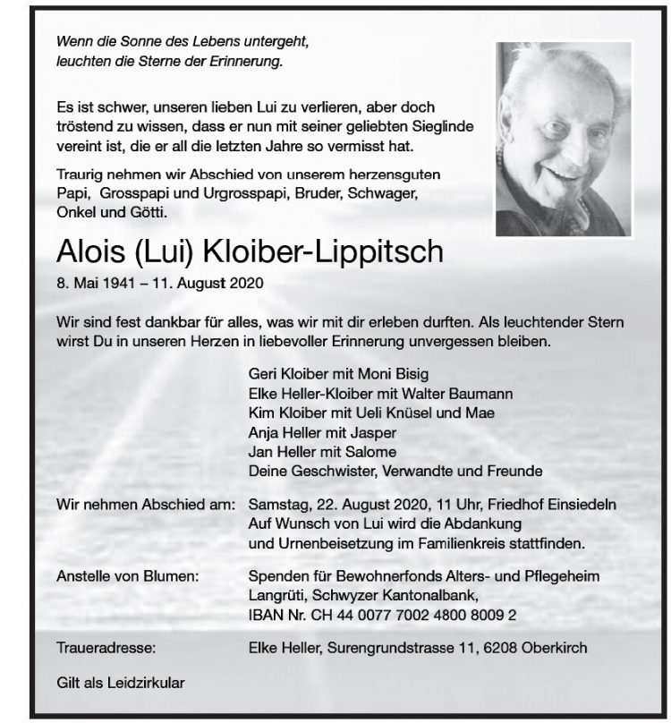 Alois (Lui) Kloiber-Lippitsch
