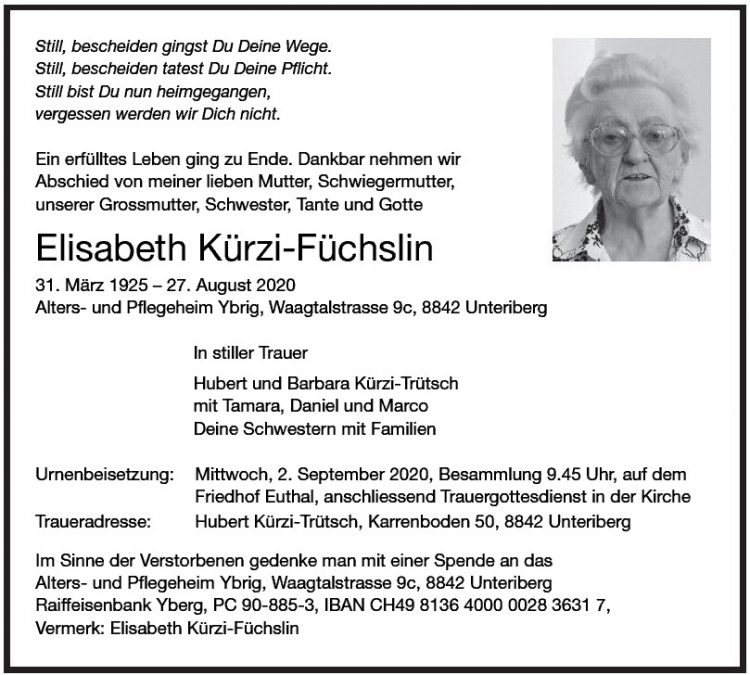 Elisabeth Kürzi-Füchslin