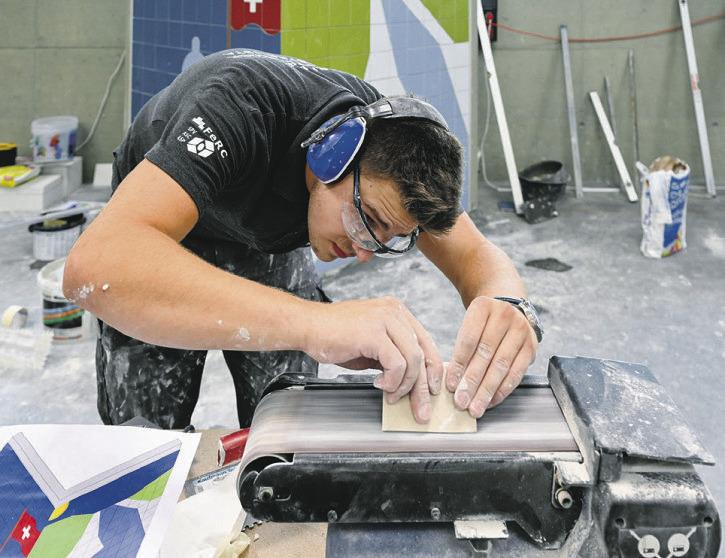 Nico Moser holte Bronze  an den SwissSkills