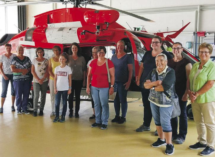 Eggerfrauen besuchten die Rega-Basis in Erstfeld