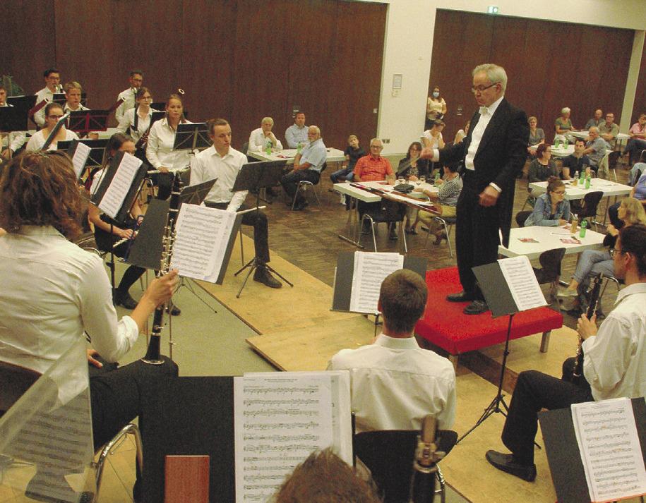 Das kantonale Jugendblasorchester  spielte meisterhaft auf