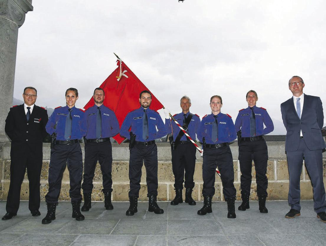 Fünf neue Polizisten wurden vereidigt
