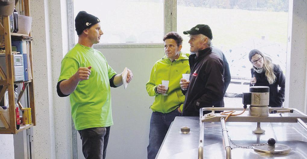 Spannende Einblicke in den Willerzeller  Biobetrieb «Sonnige Halde»