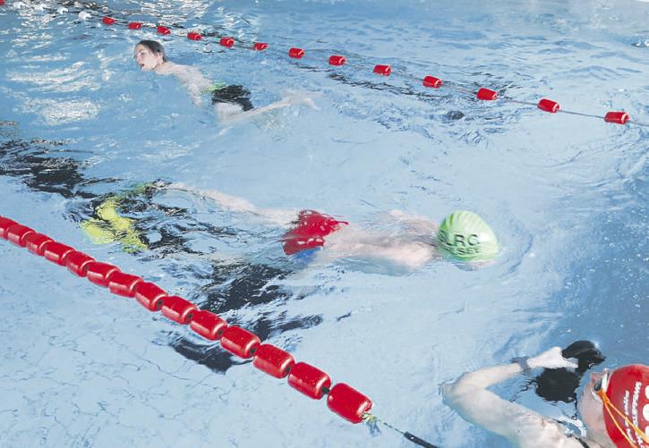 Über 66'000 Meter weit  geschwommen