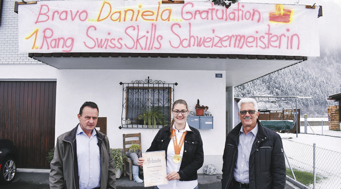 Daniela Fässler für  Schweizermeistertitel geehrt